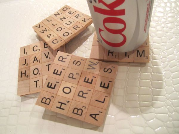How to make DIY Scrabble coasters with Fevikwik