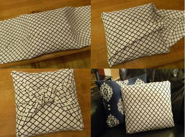 Make a no sew cushion cover with Fevikwik