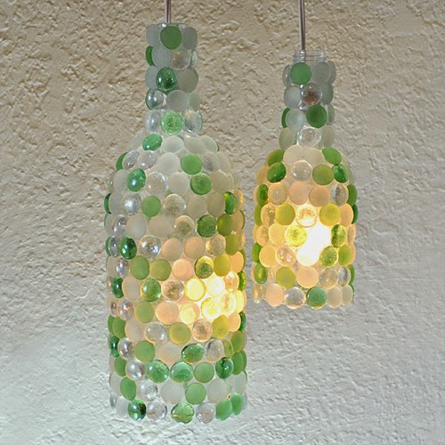 Try out DIY Wine Bottle Pendant Lamps