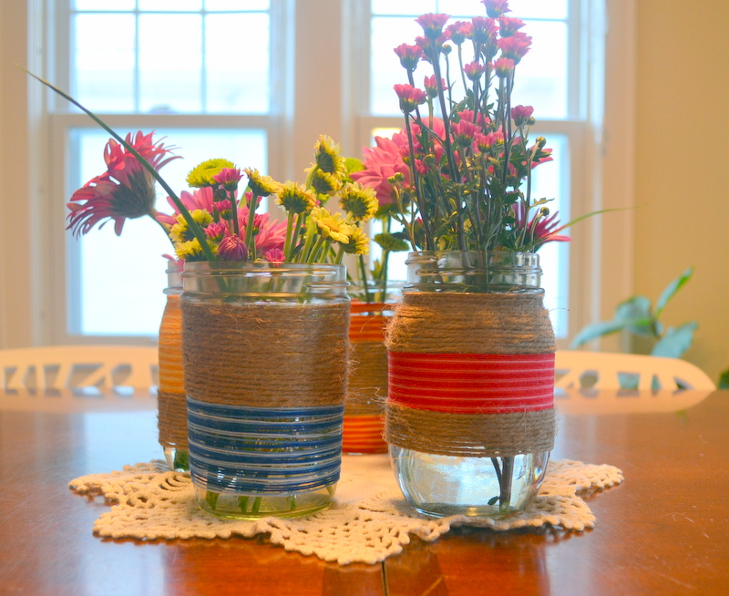 Turn Mason jars into unique eco friendly vases with Fevikwik